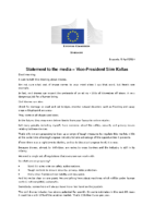 01. EC Statement – Announcement By Siim Kallas Concerning Drones 140408