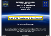03. UVS-International – Euro RPAS Regulation & Certification, by Peter van Blyenburgh