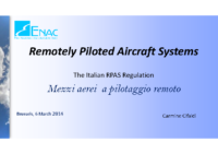 10. ENAC – Italy – Remotely Piloted Aircraft Systems, by Carmine Cifaldi