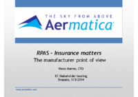 16. Aermatica – Itamy – RPAS – Insurance matters The manufacturer point of view, by Paolo Marras